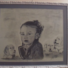 Giorgia, charcoal on paper, 2008, 50x80cm, private collection