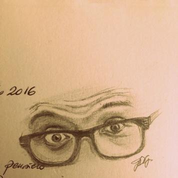 Luca's eyes, graphite on paper