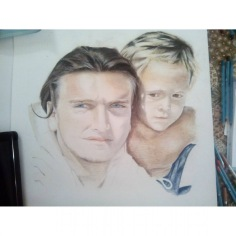 The smallest of my greatest friends, pencils on paper,2015, 40x50, private collection cm,