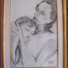 In your arms, 2008, graphite and acrylic on paper, 50x40cm, private collection