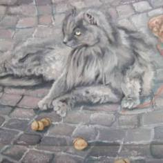 Thief!, 2009, oil on wood, 30x40 cm