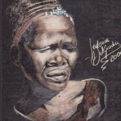 Zulu Woman, pencils on paper, 2000