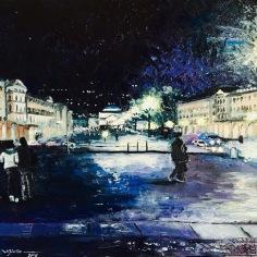 Piazza Vittorio Veneto, Torino, oil con canvas, 2016, 40x50cm